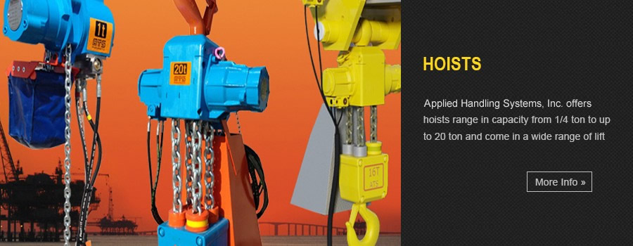 Hoists - Our manual, air and electric chain hoists range in capacity from 1/4 ton to up to 20 ton and come in a wide range of lift options.